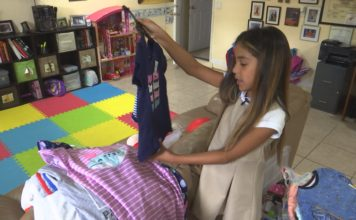 Taylor Reis, 8, collects and donates pajamas for foster care kids.