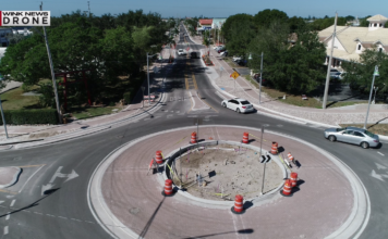 A roundabout being updated. Photo: WINK News