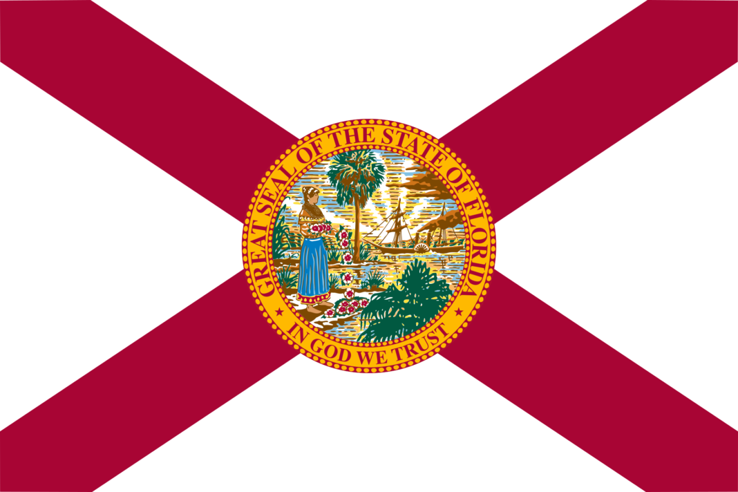 Flag of Florida. Photo via Wikipedia.