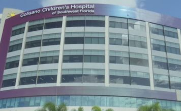 Golisano Children's Hospital building. Photo via WINK News.