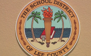 Seal of the School District of Lee County. Photo via WINK News.