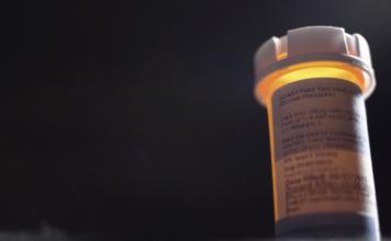 An antibiotics prescription bottle. Photo via WINK News.