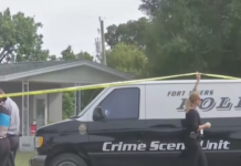 FILE: A Fort Myers Police crime scene unit at the Fort Myers home with two dead bodies. (Credit: WINK News/ File)