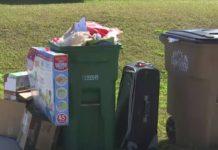 A residents trash on the curb. Photo via WINK News.