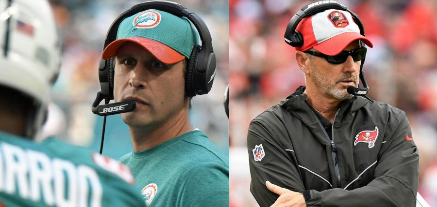 Adam Gase and Dirk Koetter were fired from their head coaching positions. Photo via CBS Sports.