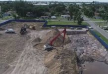 Drone view of portions of the Dunbar Sludge. Photo via WINK News.