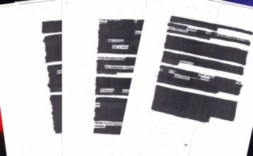 Portions of the heavily redacted Freeh Group Report. (Credit: WINK News)