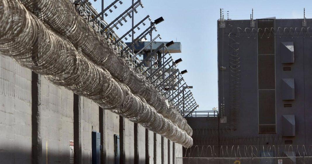 Prison barrier. Photo via CBS News.