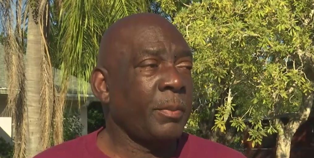 Rickey Rogers, resident in Dubar, is worried about his health being affected by the sludge. Photo via WINK News.