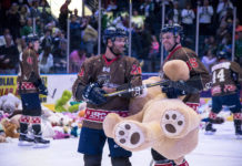FILE: The Everblades' Teddy Bear Toss brought in over 8,000 donations. (Credit: Kevin Bires Photography/FILE)