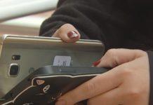 The smartphone, a blacklisted device. Photo via WINK News.
