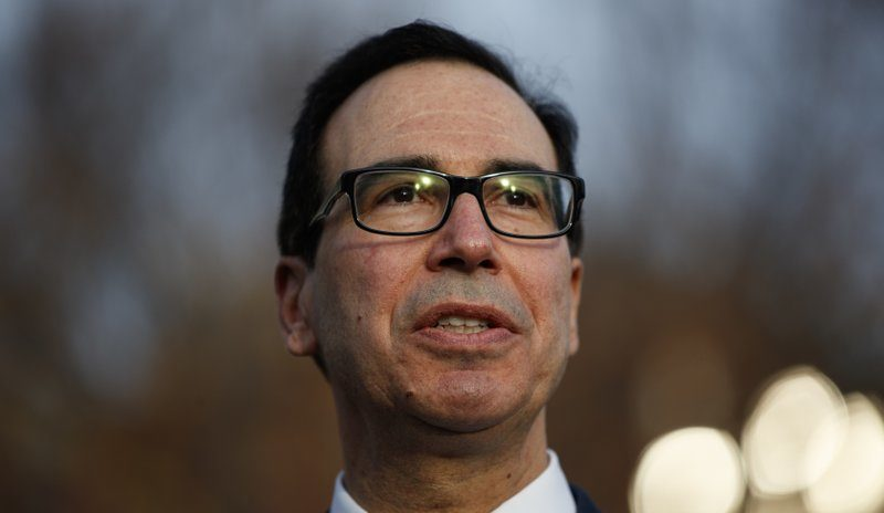 Treasury Secretary Steven Mnuchin. Photo via AP.