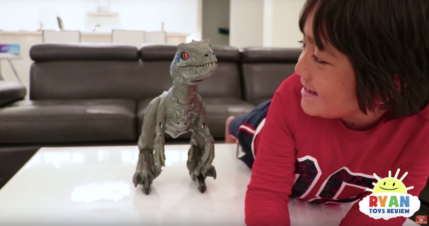 YouTube Ryan ToysReview channel has earned a 7-year-old $22 million this year. Photo via CBS News.