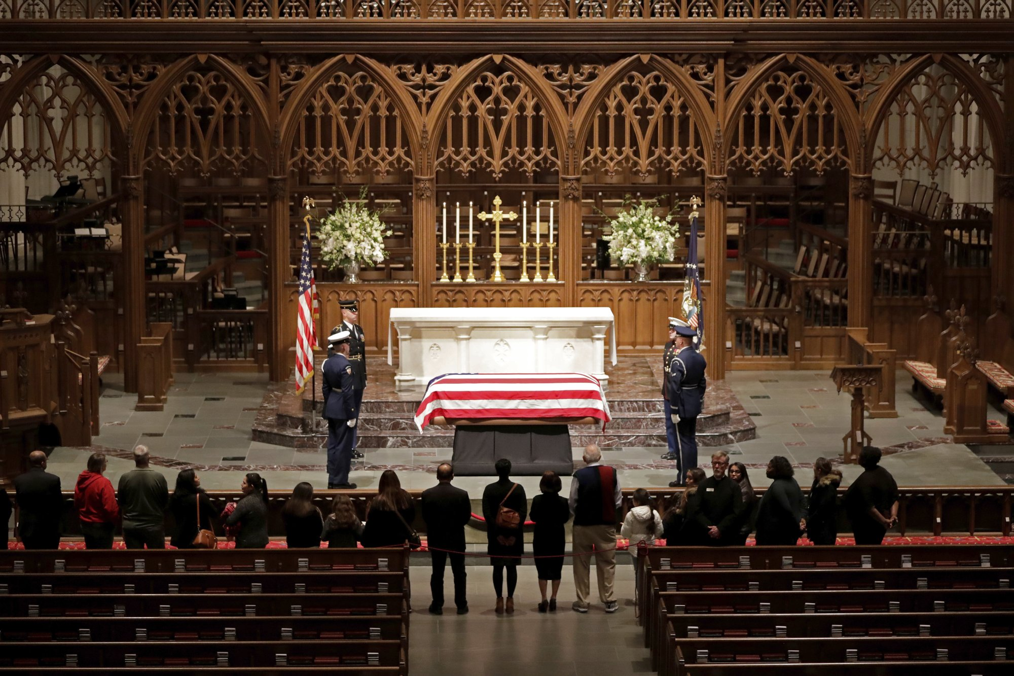 Bush President And Patriarch Is Home For Texas Burial