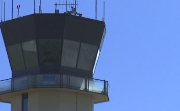 Air traffic controller tower at the SWFL International Airport. Photo via WINK News.