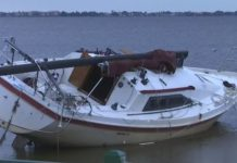 An abandoned boat. (WINK News photo)