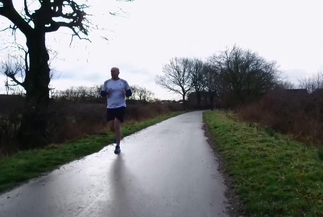 Runner Simon Wheatcroft. Photo via CBS Sunday Morning.