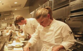 Chef in her element. (Rioja Denver photo.)