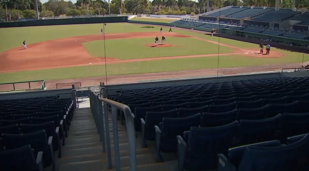The City of Palms Park is primarily used by FSW athletics. Photo via WINK News.
