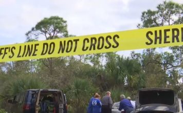 Crime tape closes the scene to the public. WINK News photo.