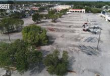 Drone image of Hancock Bridge Square. Photo via WINK News.