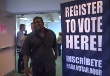 Felons register to vote as Amendment 4 is implemented. Photo via WINK News.