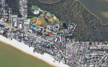 Location of the Fort Myers Beach Public Library where the homicide took place. Photo via Google Maps.