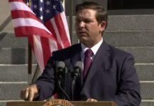 Gov. Ron DeSantis. Photo via CBS News.