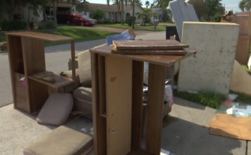 Items to be thrown away by a Cape Coral resident. Photo via WINK News.