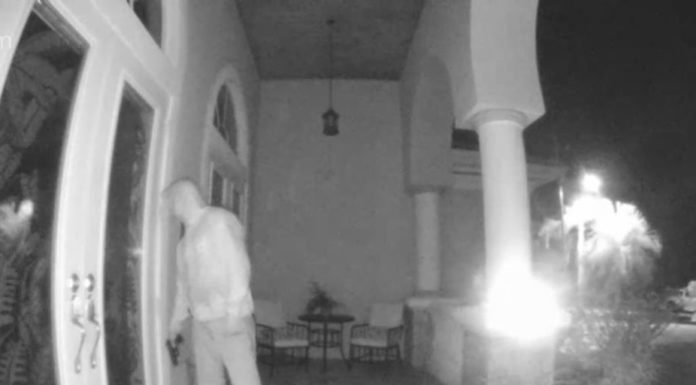Man with weapon lurks outside of Cape Coral home. Photo via Ring.com.