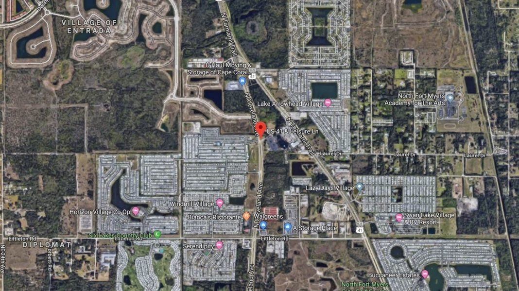 Site of the U.S. 41 and Leisure Lane crash. Photo via Google Maps.
