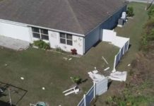 Some of the damages done to the Cherigo home. Photo via WINK News.
