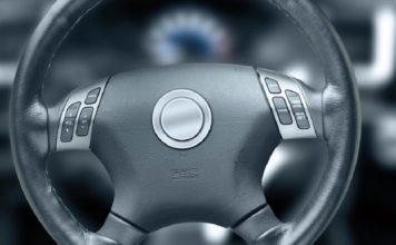Toyota vehicle steering wheel. Photo via CBS.