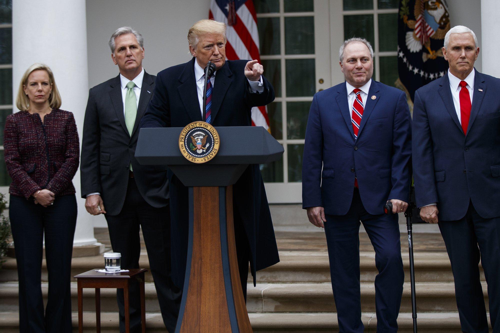 talks to resume after trump says shutdown could last  u0026 39 years u0026 39