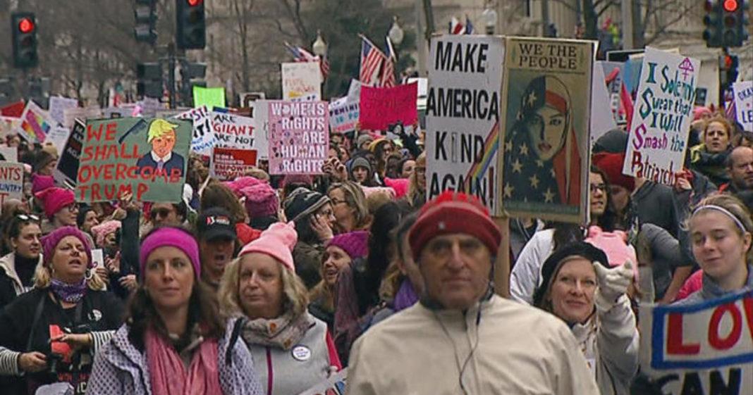 Women's March. Photo via CBS News.