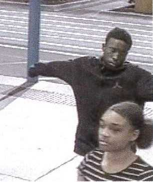 A male and a female suspect in the Walmart theft. (CCSO photo)