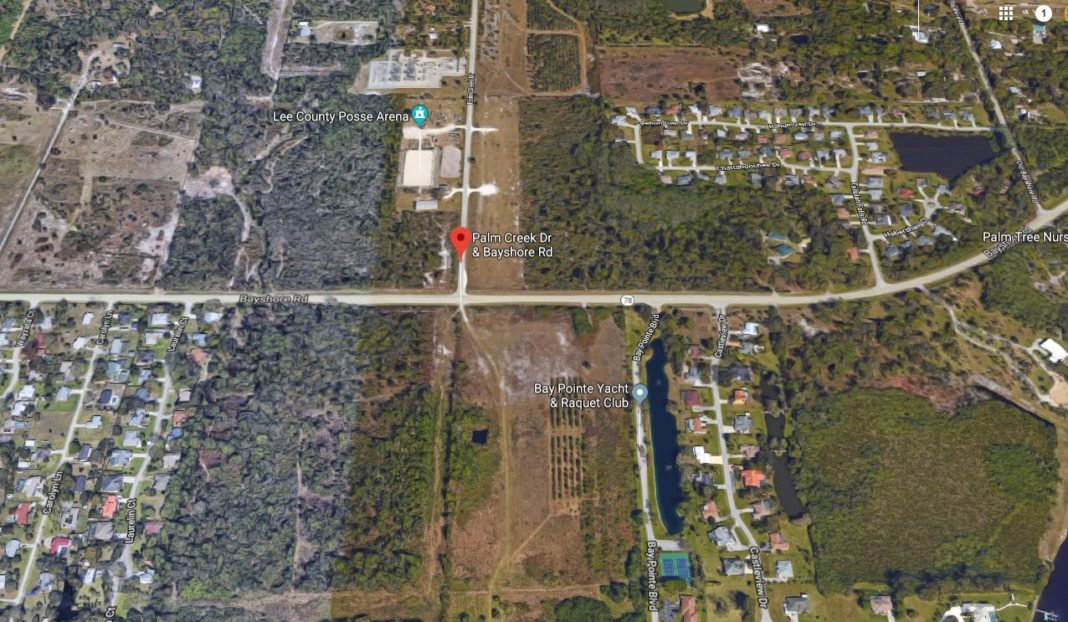 Christopher Magee leaped from a vehicle at Bayshore Rd. and Palm Creek Dr. in North Fort Myers. (Google Maps photo)