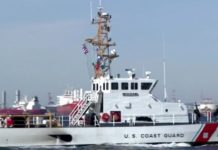 Coast Guard ship. (CBS News photo)