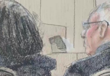 Courtroom sketches of VR Labs owners. (WINK News photo)