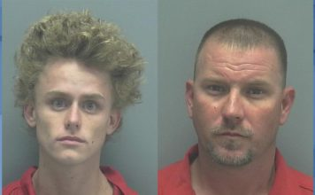 Mugshot of Killian Irberseder, left, and Joshua Tatlock, right. (LCSO photo)