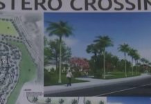 Portion of blueprints for the planned Estero Crossing. (WINK News photo)