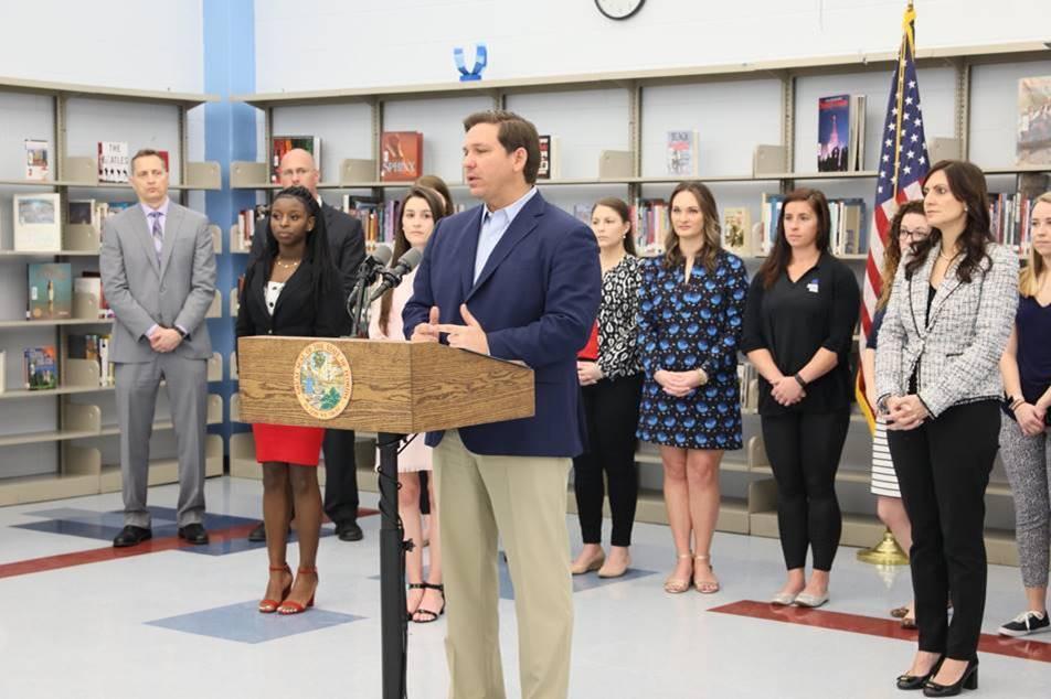 Gov. Ron DeSantis announces reform of the Best and Brightest Teachers program. (DeSantis Press Office photo)