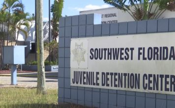 The site of the Southwest Florida Juvenile Detention Center. (WINK News photo)