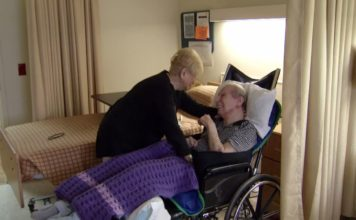 A man with Alzheimer's disease with a loved one. (Ivanhoe Newswire photo)