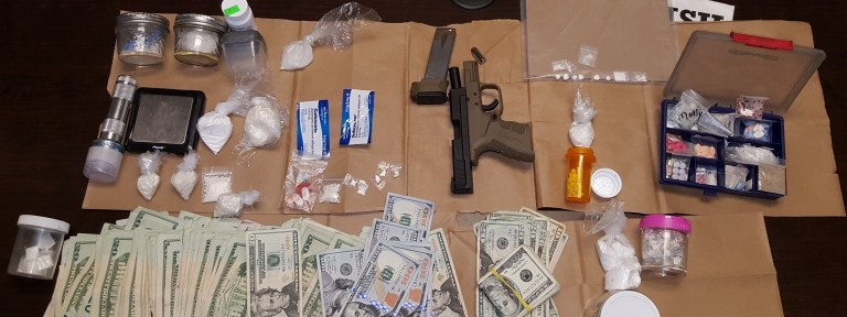 Confiscated from the search in the pickup truck. (Credit :CCSO)