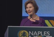 Laura Bush, keynote speaker at NaplesNEXT. (Credit: WINK News)