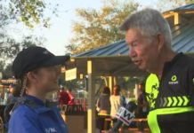 Man speaks about the Blue Zone Project. (WINK News photo)