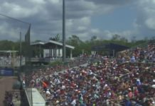 Packed stadium during a spring training game. (Credit: WINK News)