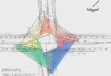 Portion of blueprints for the proposed roundabout. (Credit: WINK News)