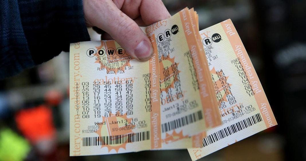 Powerball tickets. (Credit: CBS News)